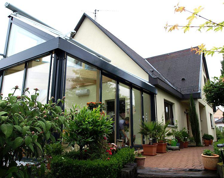 wintergarten in holz alu bauweise frammelsberger. Black Bedroom Furniture Sets. Home Design Ideas